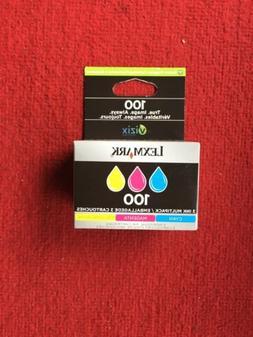Lexmark 100 Color Set  Ink Cartridges GENUINE Sealed Box