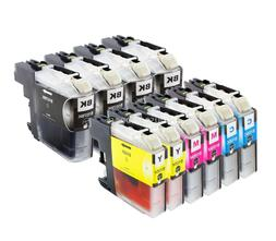 10pk LC107BK LC105XL BCMY Ink Cartridges for Brother MFC-J46