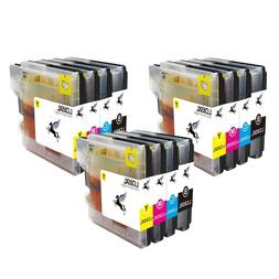 12 Pack Ink Cartridges for Brother LC61 MFC-495CW MFC-255CW
