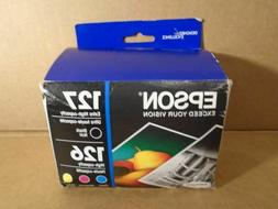 Epson 126 127 Ink Set Genuine T127120-BCS *** SHIPS OVERBOXE