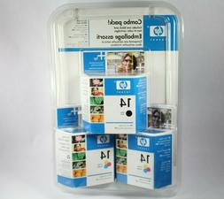 HP 14 Black and 14 Tri-color Combo Pack Printer Ink Cartridg