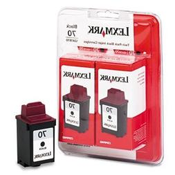 Lexmark 15M1330 #70 Black Ink Cartridge Twin Pack for the 12