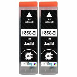 2 Black XL Ink Cartridges for Epson Expression Premium XP-53