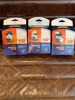2 Boxes Lexmark 50/70 Black Lexmark 20 3-color Ink Remanufac