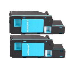 2 cyan toner cartridge for dell c1760