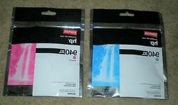 2 NEW STAPLES Remanufactured Ink Cartridges HP 940XL Cyan &