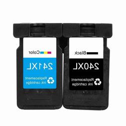 2 Pack PG-240XL AND CL-241XL  Black Tri Color for Canon Pixm
