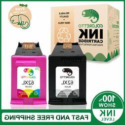 2 Pack Reman HP 62XL Black + Color Ink for ENVY 5640 5642 56