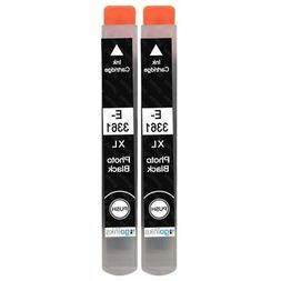 2 Photo Black Ink Cartridges for Epson Expression Premium XP