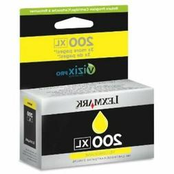 Lexmark 200XL Yellow  Ink Cartridge 14L0255 GENUINE NEW SEAL