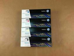 HP 202X LaserJet GENUINE Set of 4 Toner Ink Cartridges Black