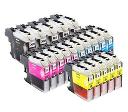 20pk LC107 LC105 XXL BCMY Ink Cartridges for Brother MFC-J43