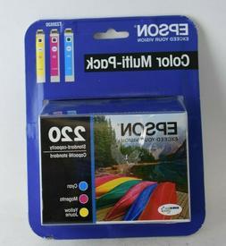 EPSON 220 Cyan/Magenta/Yellow Ink Cartridges T220520