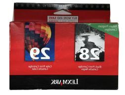 Lexmark 28/29  Black and Color Twin-Pack OEM Genuine Inkjet/