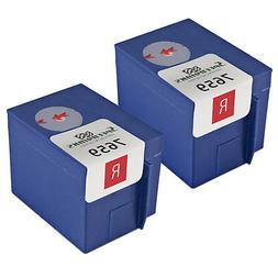 2PK 765-9 for Pitney Bowes Flourescent Red Ink Cartridge Pos