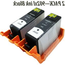 2Pk  Black HP 902XL Ink  Cartridge For Office Jet Pro 6968 6