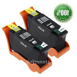 2pk Black Ink Cartridge for Dell Series 21 22 23 24 V515w V3