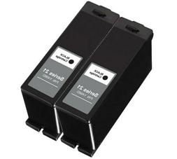 2PK fits For Dell Series 21 22 23 24 Black Ink Cartridges Fo