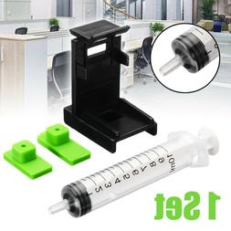 3 IN 1 Ink Refill Cartridge Clip Syringe For HP 60 61 802 81