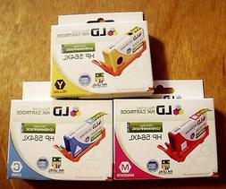 3 New LD Recycled Ink Cartridge HP 564XL Magenta, Yellow, Cy