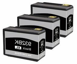 3Pk 932XL Black Ink Cartridge For HP Officejet 7110 6100 660
