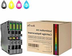 4 CMYK Dye Pigment Sublimation Ink Cartridge Ricoh Refill SG