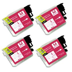 4 MAGENTA Ink Cartridge for Series LC61 Brother MFC 490CW 49