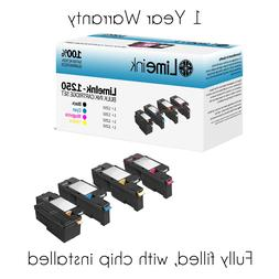 4 Pack 1250 Toner Cartridge For Dell Laser 1250c 1350cnw 135
