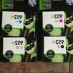 4-PACK HP GENUINE 952XL Black & Color Ink  STAMPED WARRANTY