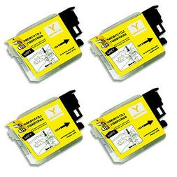 4 YELLOW Ink Cartridge for Series LC61 Brother MFC J410w J41