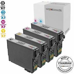 4pk for Epson 702 XL 702XL Ink Cartridge Black & Color Set W