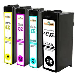 4PK For Dell 33 XL  Extra HY Black/Color Ink Combo for V525W