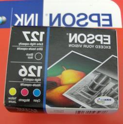 4pk Epson GENUINE 127 Black & 126 Color Ink_T127120-BCS_Work