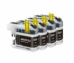 4Pk LC-103  LC103XL Black Ink Cartridge For Brother MFC-J475