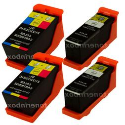 4pk Series 21/22/23 Ink Cartridges Black/Color for Dell V515