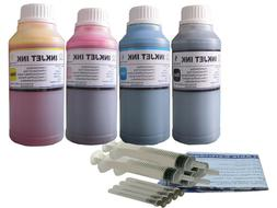 4x250ml Refill ink for Dell 7Y743 7Y745  A940  A960  Printer