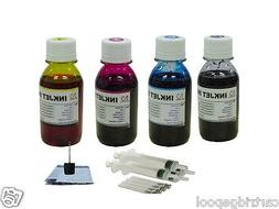 4x4oz refill ink for Canon cartridge PG-240 CL-241 and fit f