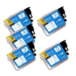 5 CYAN Ink Cartridge for Series LC61 Brother MFC J410w J415w