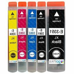 5 Ink Cartridges XL  for Epson Expression Premium XP-530, XP