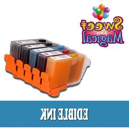 5 PACK EDIBLE INK CARTRIDGES PGI-250CLI-251 for Canon PIXMA