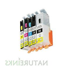 5 Refill Refillable Ink Cartridges to replace Canon PG550 CL