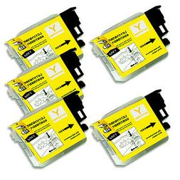 5 YELLOW Ink Cartridge for Series LC61 Brother MFC 490CW 495