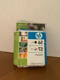 HP 56 Black 57 Color Combo Pack Ink Print Cartridges Expired