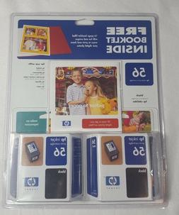 HP 56 Black Ink Sealed 2 Pack Genuine and Idea Book Install