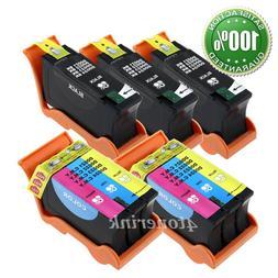 5pk Series 21/22/23/24 Ink Cartridges Black/Color for Dell V