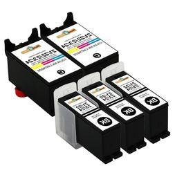 5pk Series 21 22 23 24 Black & Color Ink Cartridges for Dell