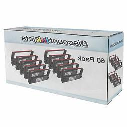 60 pk for Epson ERC 30 / 34 / 38 Black & Red Ink Printer Rib