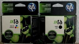 HP 61XL Black and 61XL Tri-Color Inks  EXP Dec 2021