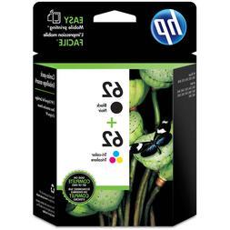62 Black & Color NEW GENUINE HP #62 Combo Ink Cartridges