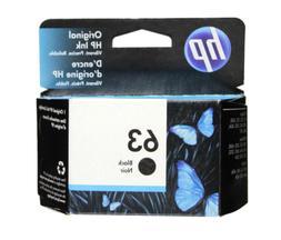 HP #63 Black Ink Cartridge 63 F6U62AN NEW GENUINE